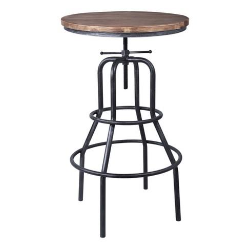 Amarna Industrial Adjustable Pub Table Pine - Modern Home - image 1 of 4