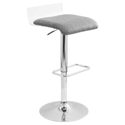 Swerve Contemporary Adjustable Barstool - LumiSource - image 1 of 6
