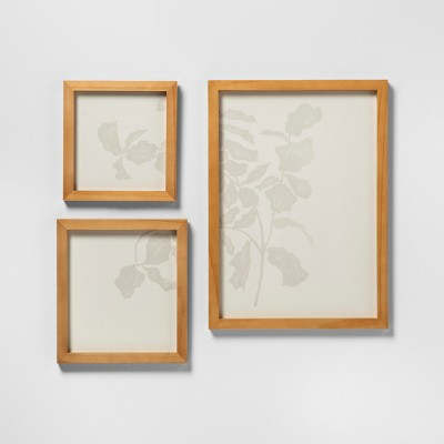 3pk Botanical Wall Art with Wood Frame - Hearth & Hand™ with Magnolia