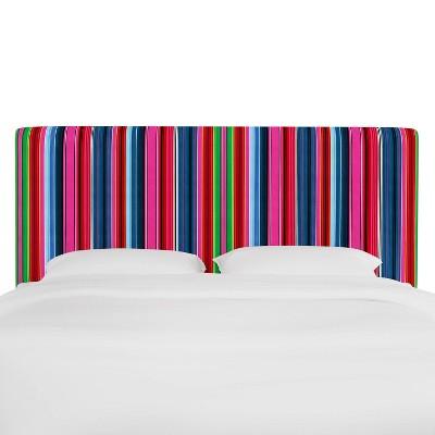 California King Olivia Upholstered Headboard Serape Stripe Bright - Skyline Furniture