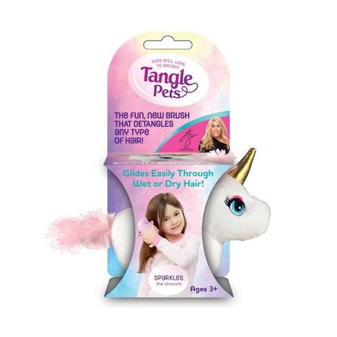 Tangle Pets Kids Hair Brush - Unicorn - image 1 of 3