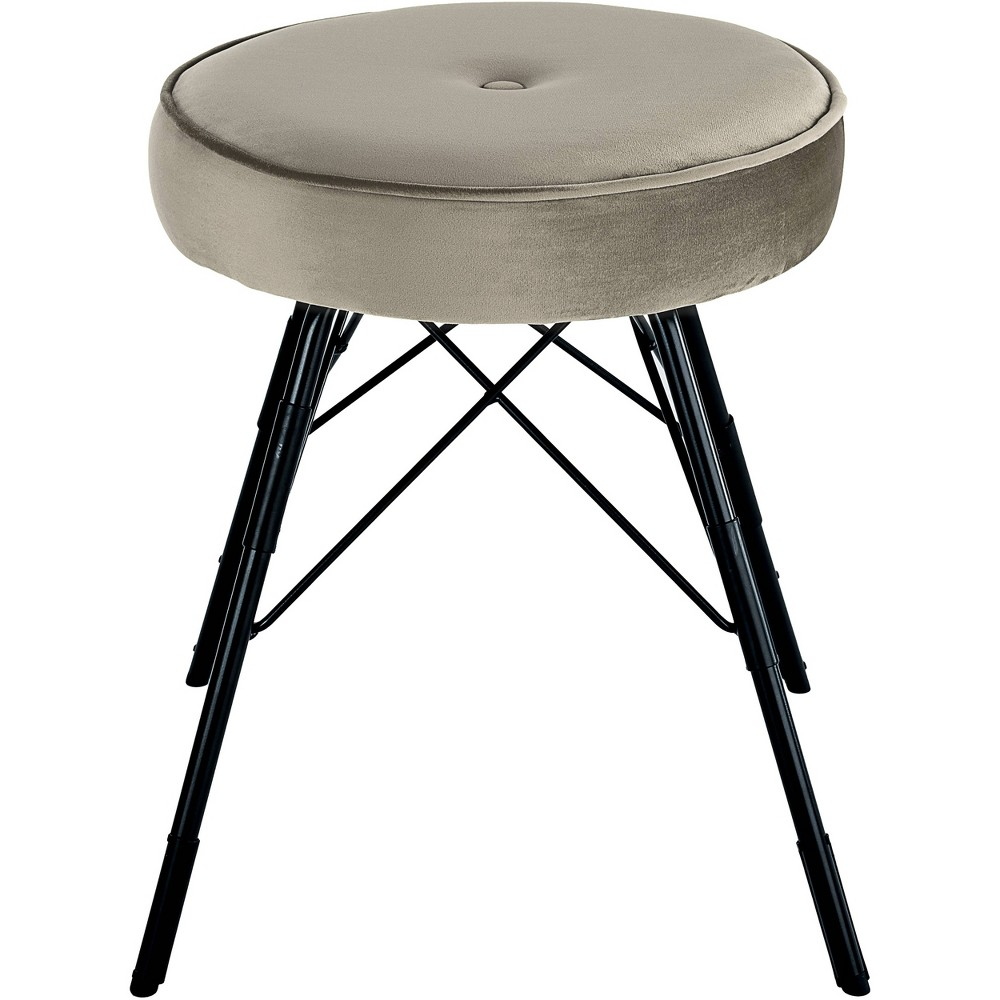 Image of 2pc Avery Stool Set Gray - Adore Décor
