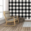Devine Color Buffalo Plaid Peel And Stick Wallpaper Black/Ivory - image 4 of 4