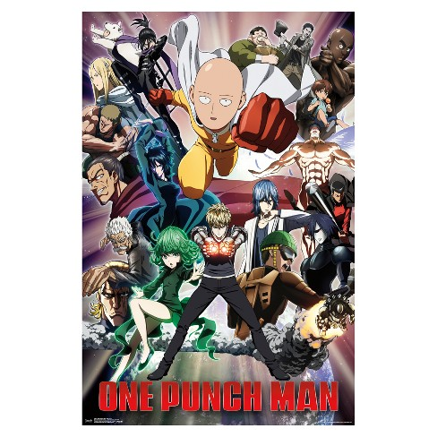 One Punch Man Key Art 2 Poster 34x22 - Trends International - image 1 of 2