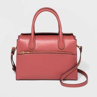 Magnetic Closure Satchel Handbag - A New Day™ Rose
