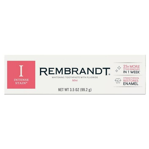 Rembrandt Intense Stain Whitening Toothpaste Mint - image 1 of 4