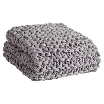 Gray Chunky Knit Throw Blankets (50 x60 )