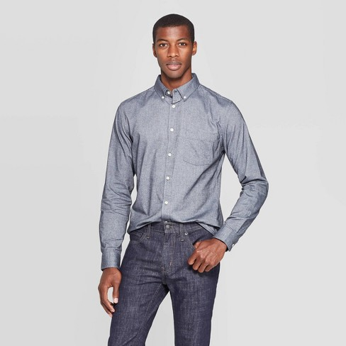 Men's Long Sleeve Button-Down Shirt - Goodfellow & Co™ - image 1 of 3