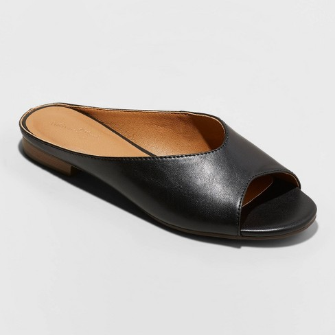 Women's Gaby Faux Leather Slide Sandal - Universal Thread™ - image 1 of 3