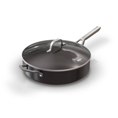 Ninja Foodi NeverStick 5qt Nonstick Sauté Pan with Glass Lid - Black