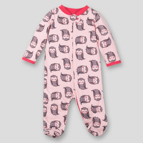 e980b94f8 Lamaze Baby Girls  Organic Owl Print Sleep  N Play - Light Pink 9M