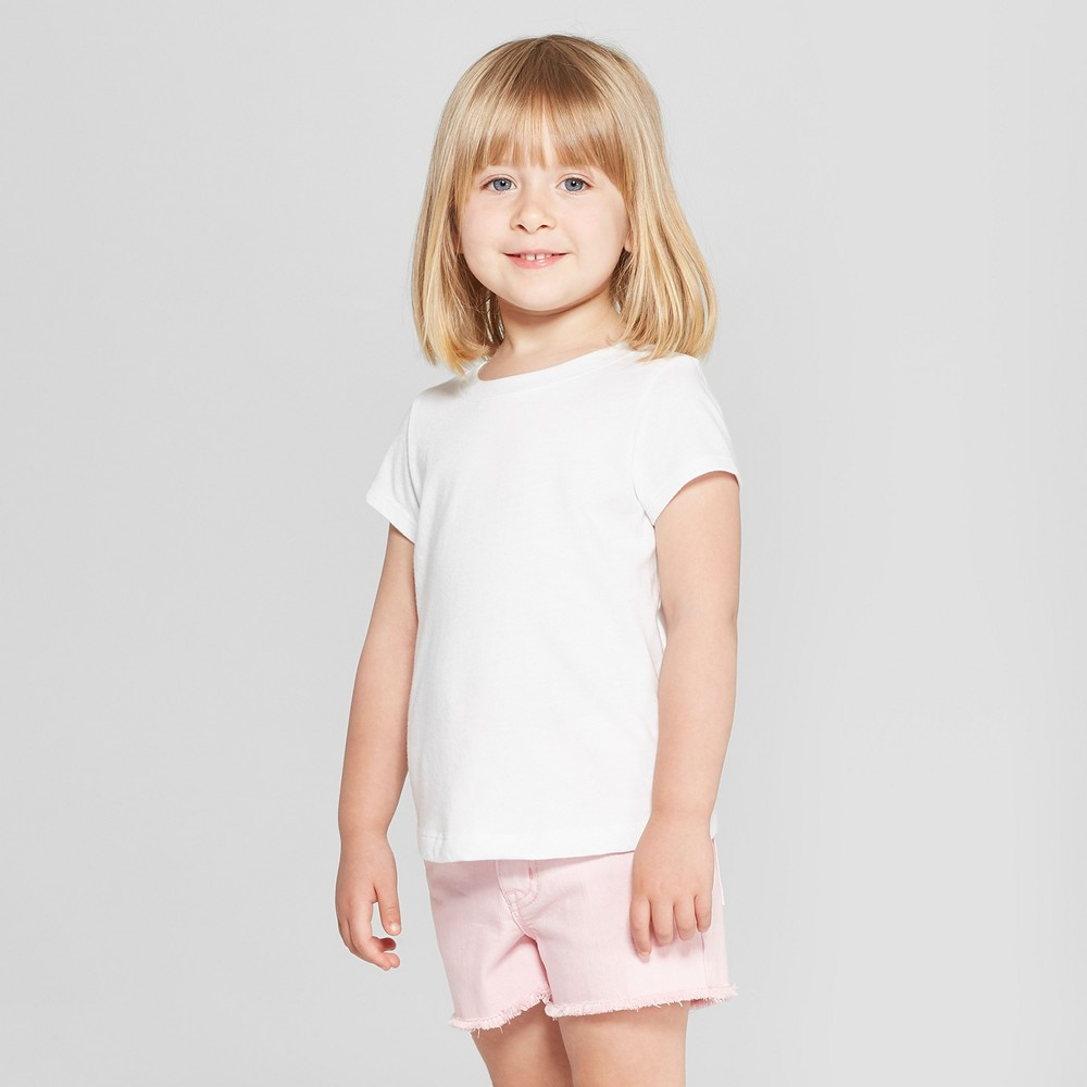 Toddler Girls' Short Sleeve T-Shirt - Cat & Jack Eco White 5T