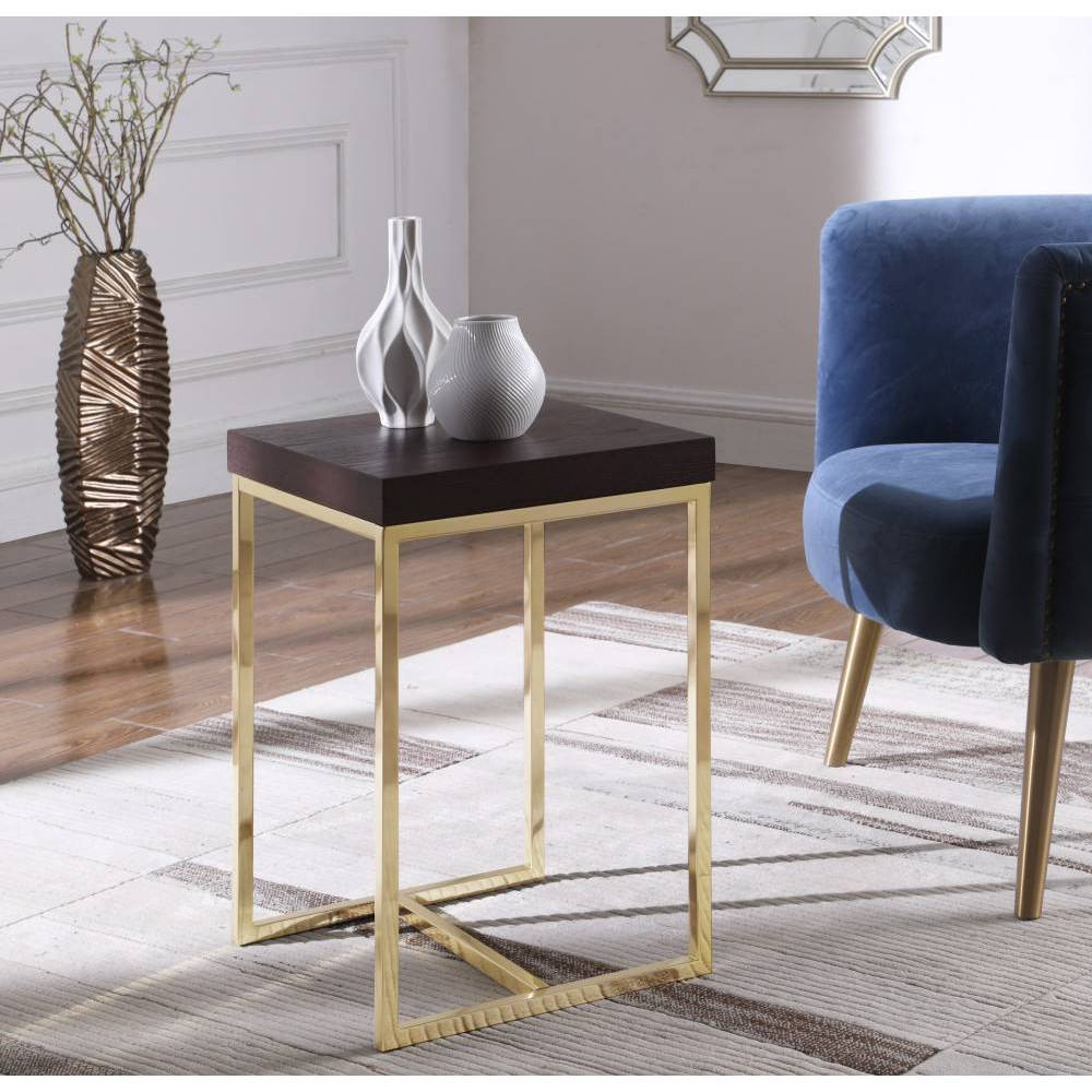Lame Side Table Espresso - Chic Home Design was $169.99 now $101.99 (40.0% off)