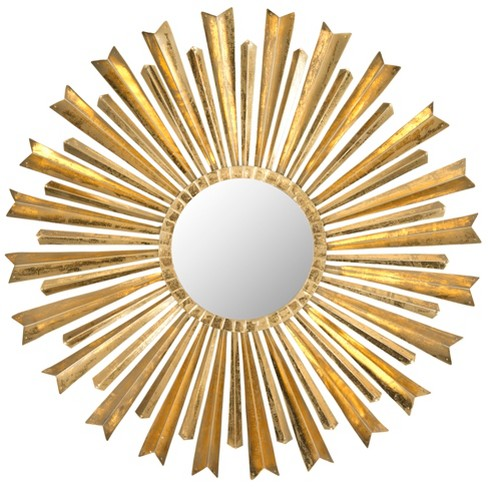 Sunburst Golden Arrows Decorative Wall Mirror Gold - Safavieh® - image 1 of 3