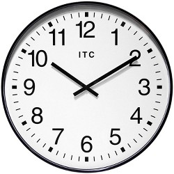 Infinity Instruments 90/0019-1 Oversize 19-Inch Wall Clock, Black and White