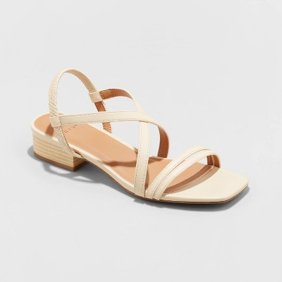 Women's Meadow Thin Strap Low Block Heel Sandals - A New Day™
