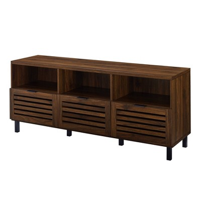 "Boho Triple Slat Door TV Stand for TVs up to 65"" - Saracina Home"