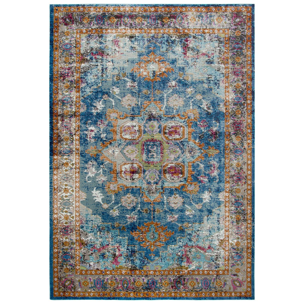 Image of 5'X7' Princeton Medallion Rug Blue - Rizzy Home