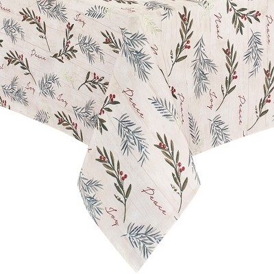Holiday Tree Trimmings Tablecloth - Red/Green - Elrene Home Fashions