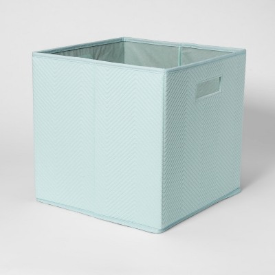Fabric Cube Storage Bin Aqua - Pillowfort™
