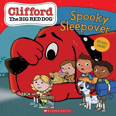 The Spooky Sleepover (Clifford the Big Red Dog Storybook)- by Meredith Rusu (Paperback)
