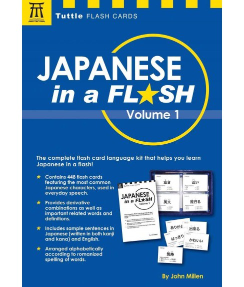 Japanese in a Flash (Vol 1) (Paperback) (John Millen) - image 1 of 1