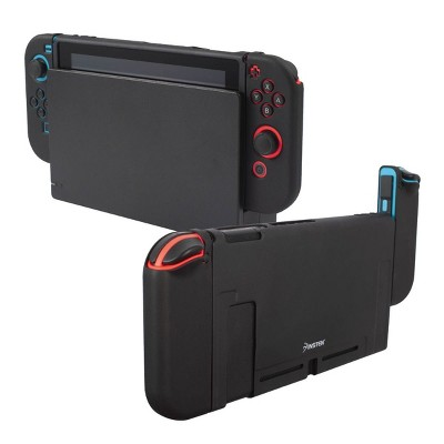 Insten Dockable Case For Nintendo Switch Console and Joycon Controllers, Detachable 3-in-1 Protective Soft TPU Cover, Black