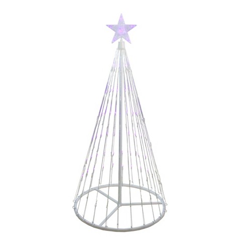 Northlight 4' Purple LED Lighted Show Cone Christmas Tree Outdoor Decoration - image 1 of 2