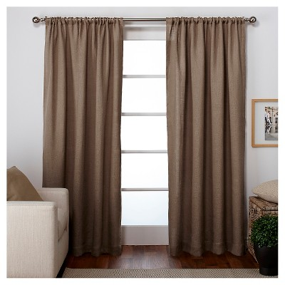 Curtain Panels Set of 2 Natural (54 x84 )Exclusive Home