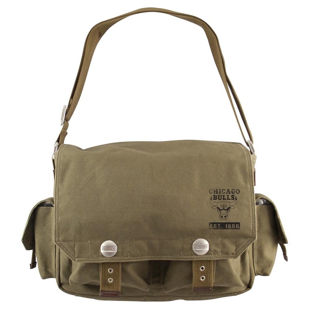 Chicago Bulls Little Earth Prospect Messenger Bag, Olive Drab