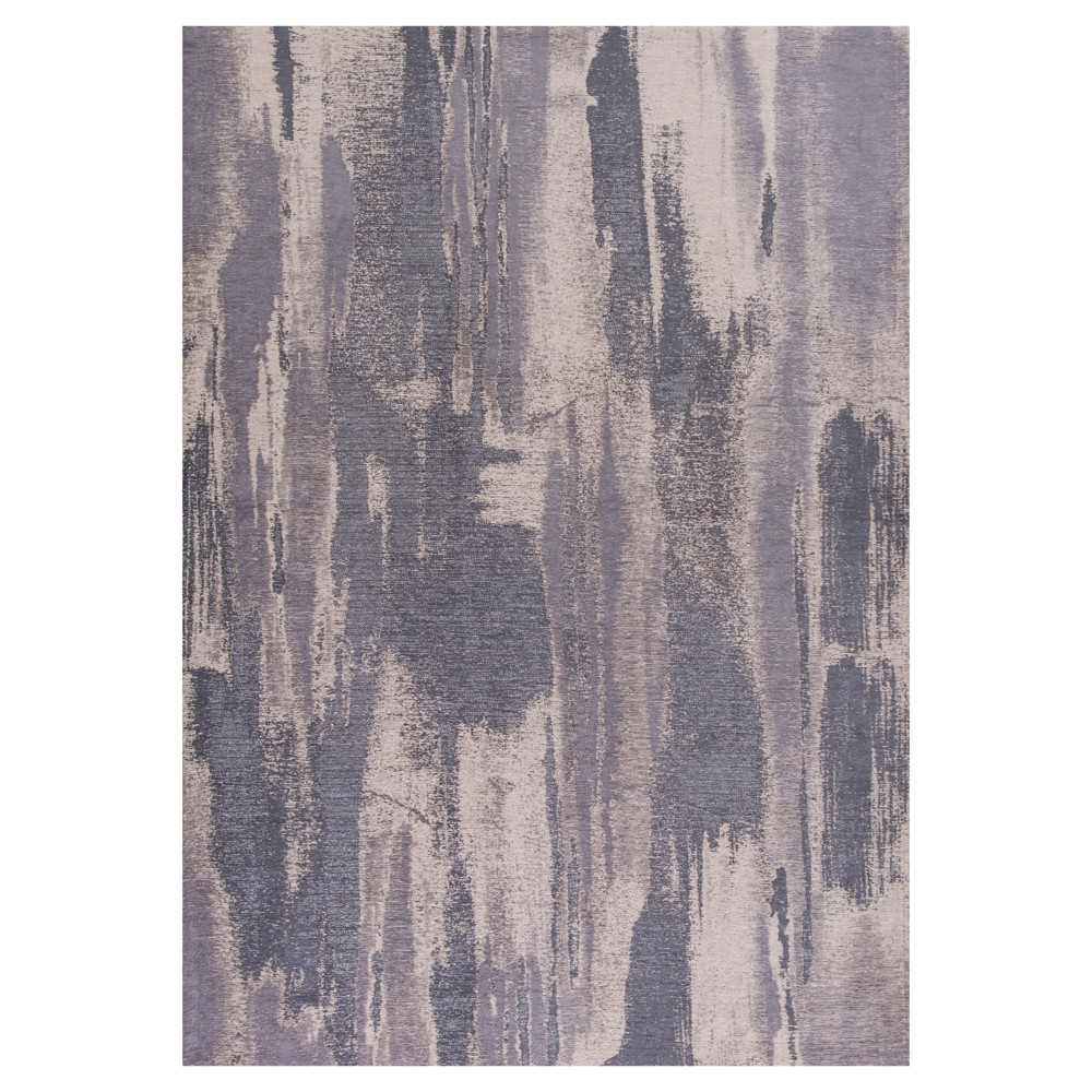 Gray Stripe Pressed/Molded Area Rug 5'x7' - Kas Rugs