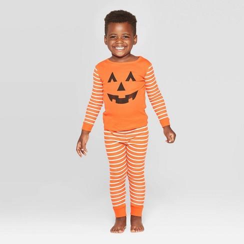 Toddler Family Pajama Halloween Pumpkin Set - Orange - image 1 of 2