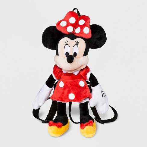 Toddler Girls' Disney Mickey Mouse & Friends Minnie Mouse Plush Backpack - Black - image 1 of 2