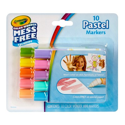 Crayola 10ct Color Wonder Mini Markers - Pastel