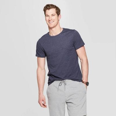 Men's Standard Fit Lyndale Short Sleeve Crew Neck T-Shirt - Goodfellow & Co™ Jamestown Blue XL