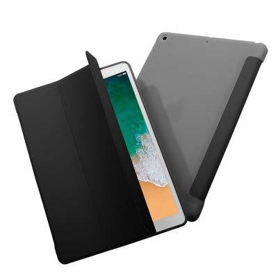 """Insten - Tablet Case for iPad 10.2"""" 2019 & 2020, Gen 7 & 8, Liquid Silicone, Frosted Back, Auto Sleep/Wake, Pencil Charging, Red"""