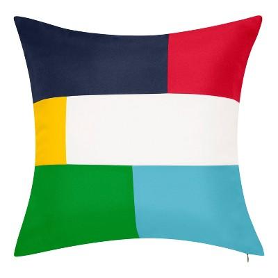Reversible Colorblock Indoor/Outdoor Throw Pillow - Edie@Home