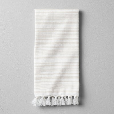 Hand Towel Engineered Stripe - Pebble - Hearth & Hand™ with Magnolia