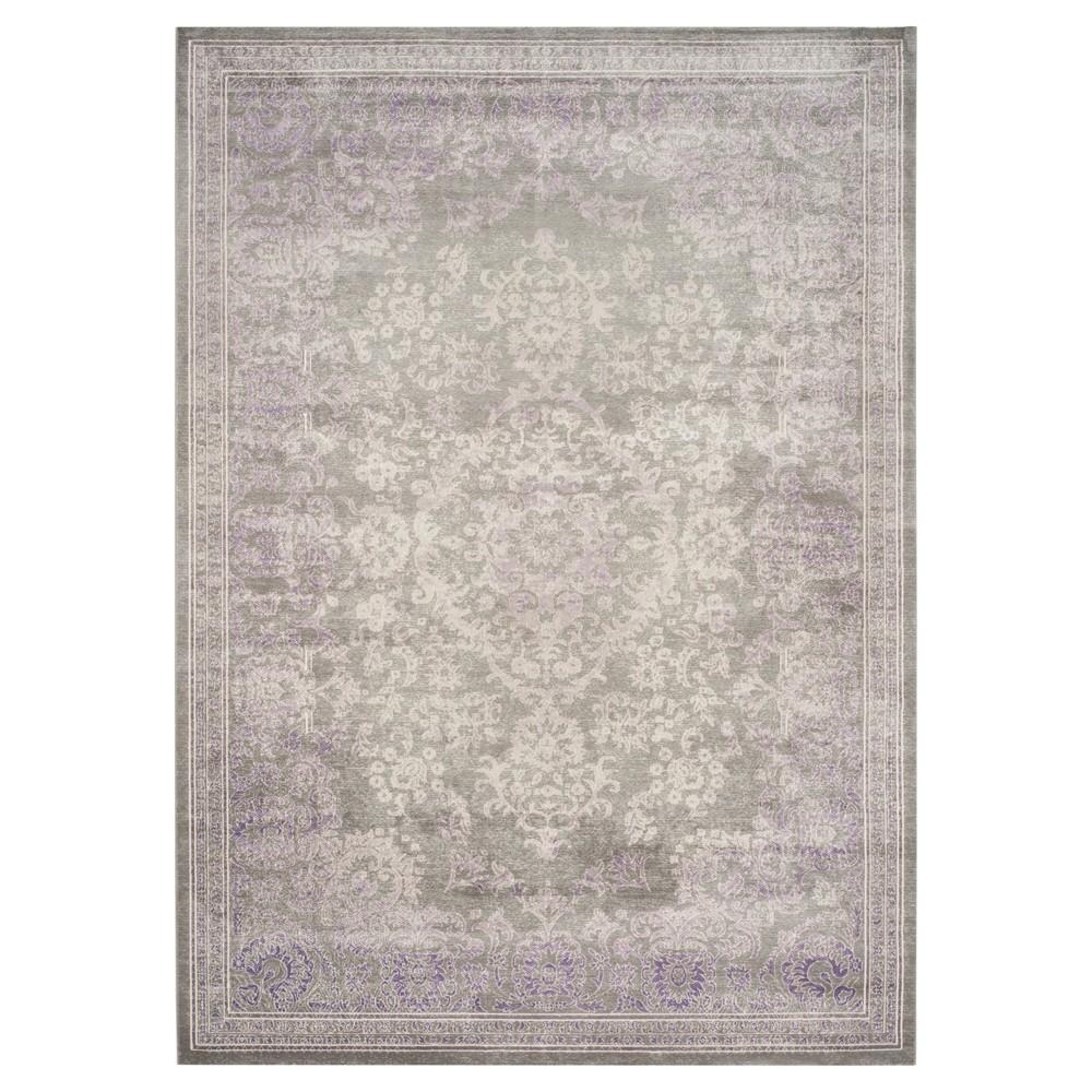 Metz Area Rug - Gray / Lavender (9' X 12' ) - Safavieh, Gray/Purple