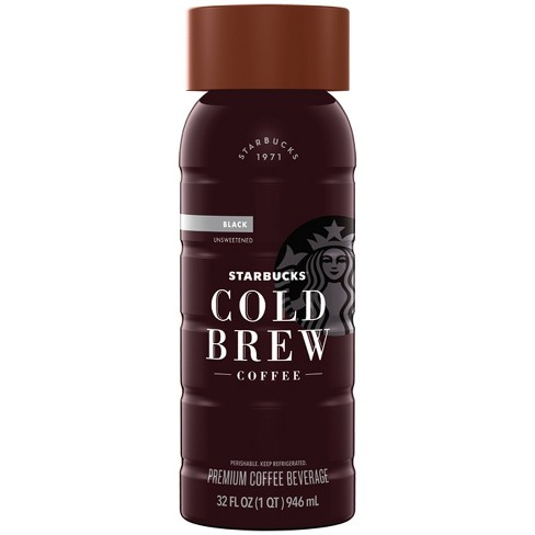 Starbucks Unsweetened Black Cold Brew Coffee 1qt