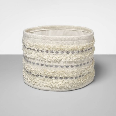 Soft Rug Basket With Detail White - Opalhouse™