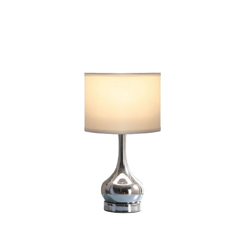 Corrine Silver Mid Century Table Lamp Only Ore International