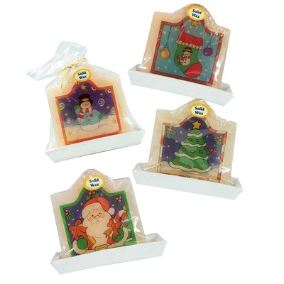 "Northlight 72ct Tree, Santa Claus Stocking and Snowman Christmas Candle Set 4.25"" - Ivory/Purple"