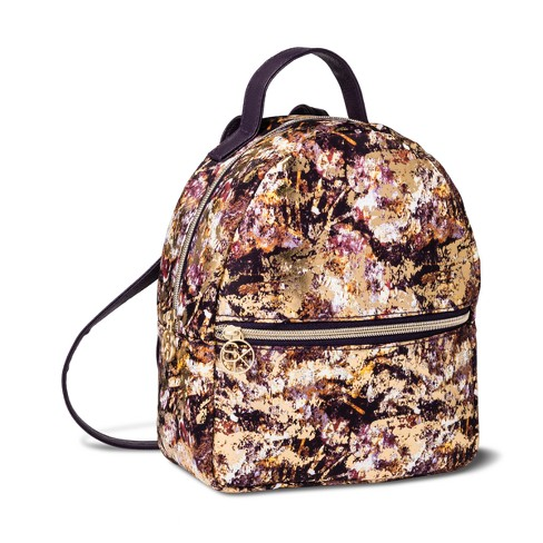 Sonia Kashuk™ Cosmetic Bag Cosmetic Backpack Distress Floral with Foil - image 1 of 2