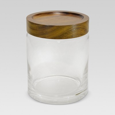 Canister Acacia/Glass Medium - Threshold™