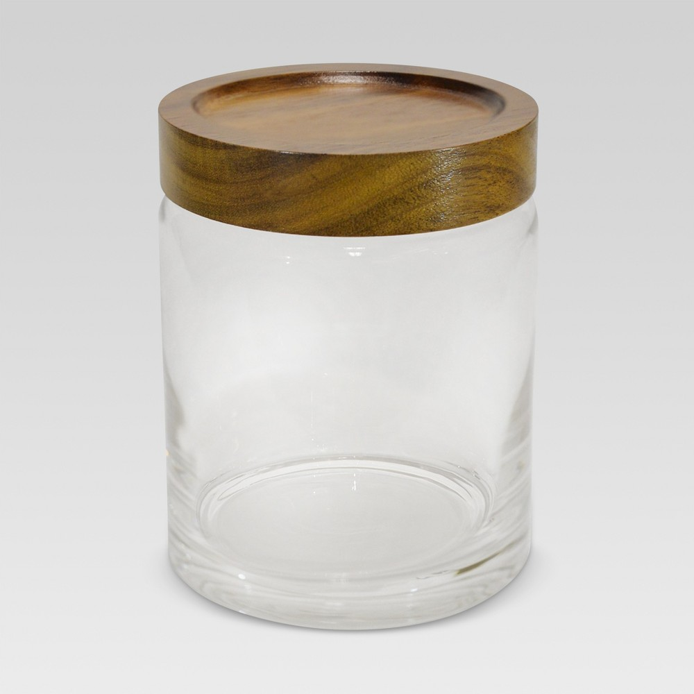 Image of Canister Acacia/Glass Medium - Threshold