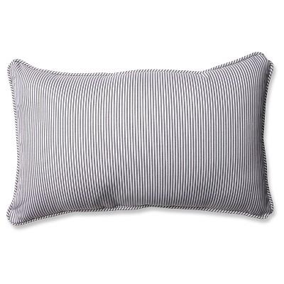 Pillow Perfect Oxford Rectangular Throw Pillow - Gray (18.5x11.5 )