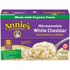 Annie's Microwavable White Cheddar Macaroni & Cheese Packets - 10.7oz/5pk - image 2 of 4