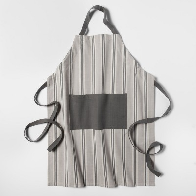 Striped Apron Gray - Threshold™