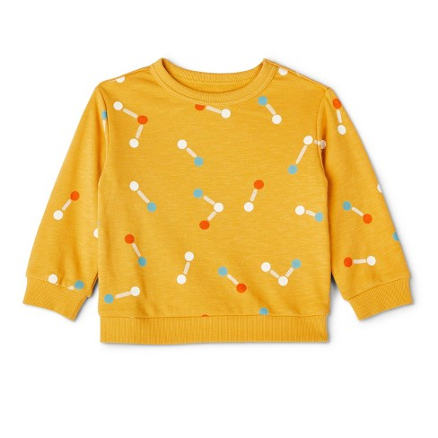 Toddler Molecule Print Sweatshirt - Christian Robinson x Target Yellow - image 1 of 4